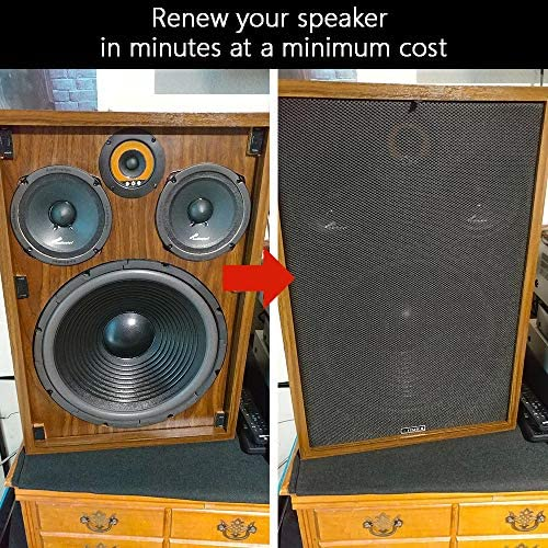 Stage Audio Speakers and KTV Boxes Repair 55x20 Stereo Fabric Replacement for Home Speakers Facmogu Brown Subwoofer Speaker Grill Cloth 140 x 50 cm
