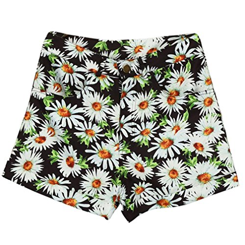 Forthery Women Sexy Hot Pants Summer Casual High Waist Beach Shorts (Tag XL = US L, Black)