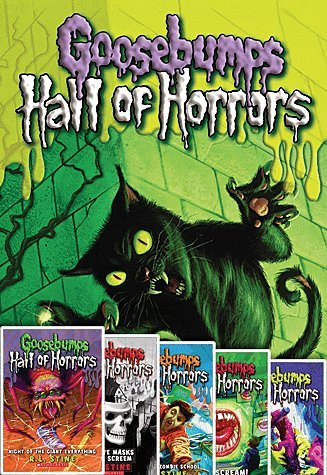 Read Online Goosebumps Hall of Horrors Six Book Set by RL Stine Includes #1 Claws!; #2 Night of the Giant Everything; #3 the Five Masks of Dr. Screem; #4 Why I Quit Zombie School; #5 Don't Scream!; #6 the Birthday Party of No Return! pdf