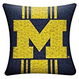 NCAA Michigan Wolverines Woven Pillow - Multi-Colored