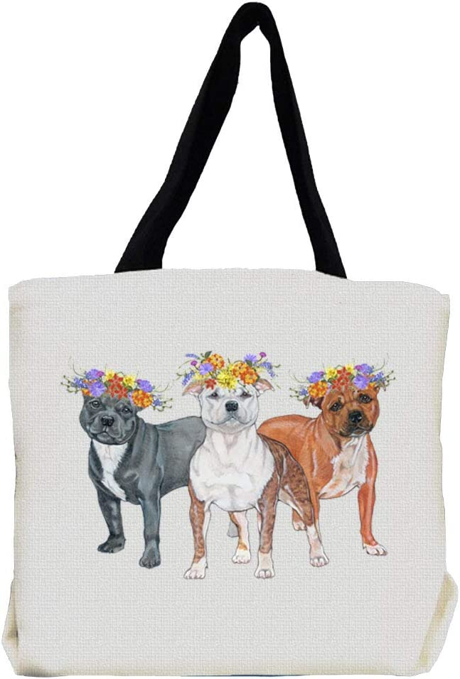 Bull Terrier Tote Bag Gifts for Dog Lovers Print Bags with Dogs on
