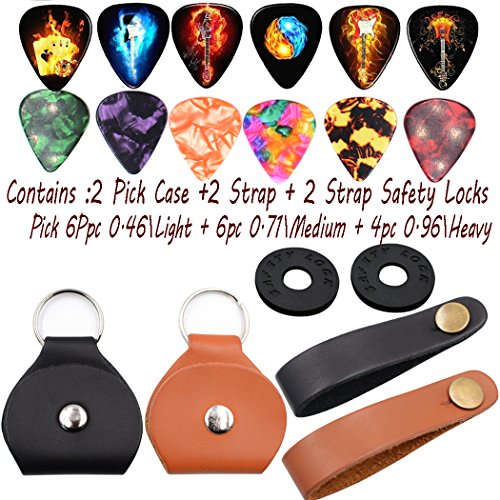 Guitar picks Guitar pick Holder Case keychain Guitar Strap B