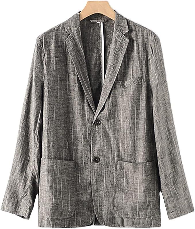 サマージャケット 麻 テーラードジャケット メンズ ジャケット リネンジャケット 薄手 大きいサイズ 長袖 快適 清涼感 軽快感 2ボタン仕様 センターベント パッチポケット 春夏