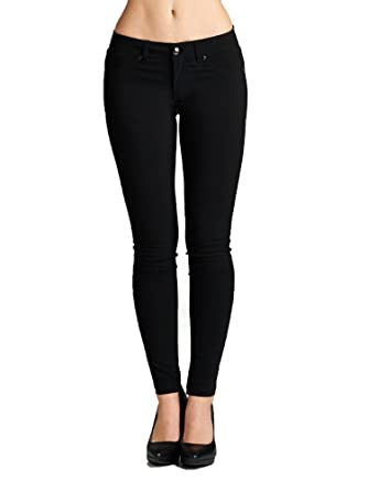 db1437872346e Emmalise Women's Basic Jean Look Jeggings Tights Spandex Skinny Leggings -  Black, ...
