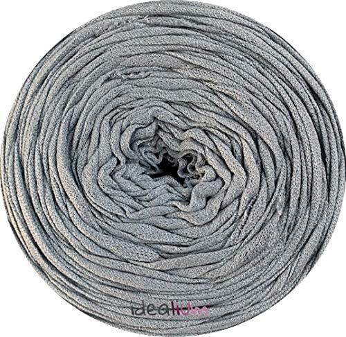 Trapillo ligero bobina para tejer gris claro azulado 250g