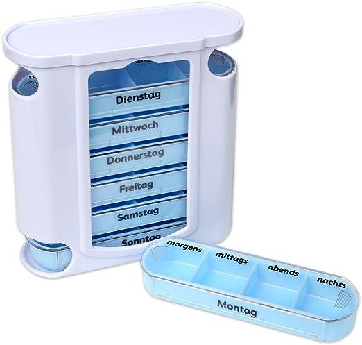 Schramm® Caja de Pastillas Blanca con Deslizadores Azules Caja de ...