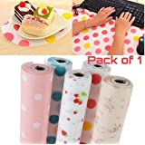 NYAL ENTERPRISE Anti Slip PVC Waterproof Place Mat for Kitchen Cupboard Liners, Refrigerator, Table (Multicolour, 45X300 cm)