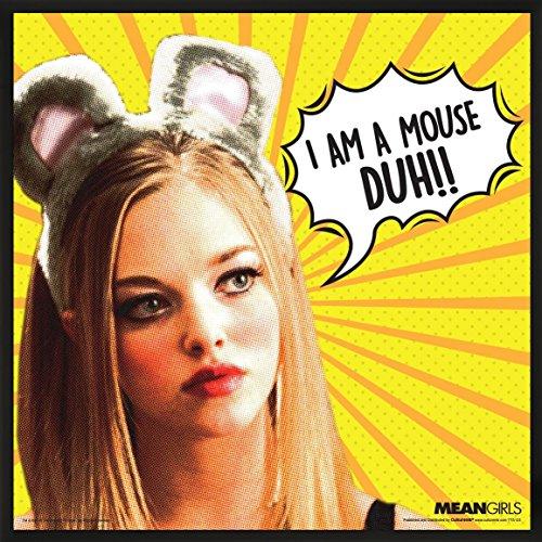 Regina Mean Girls Costume (Mean Girls Karen Mouse Duh Teen Comedy Movie Film Poster Print (Framed 12 x 12 Print))