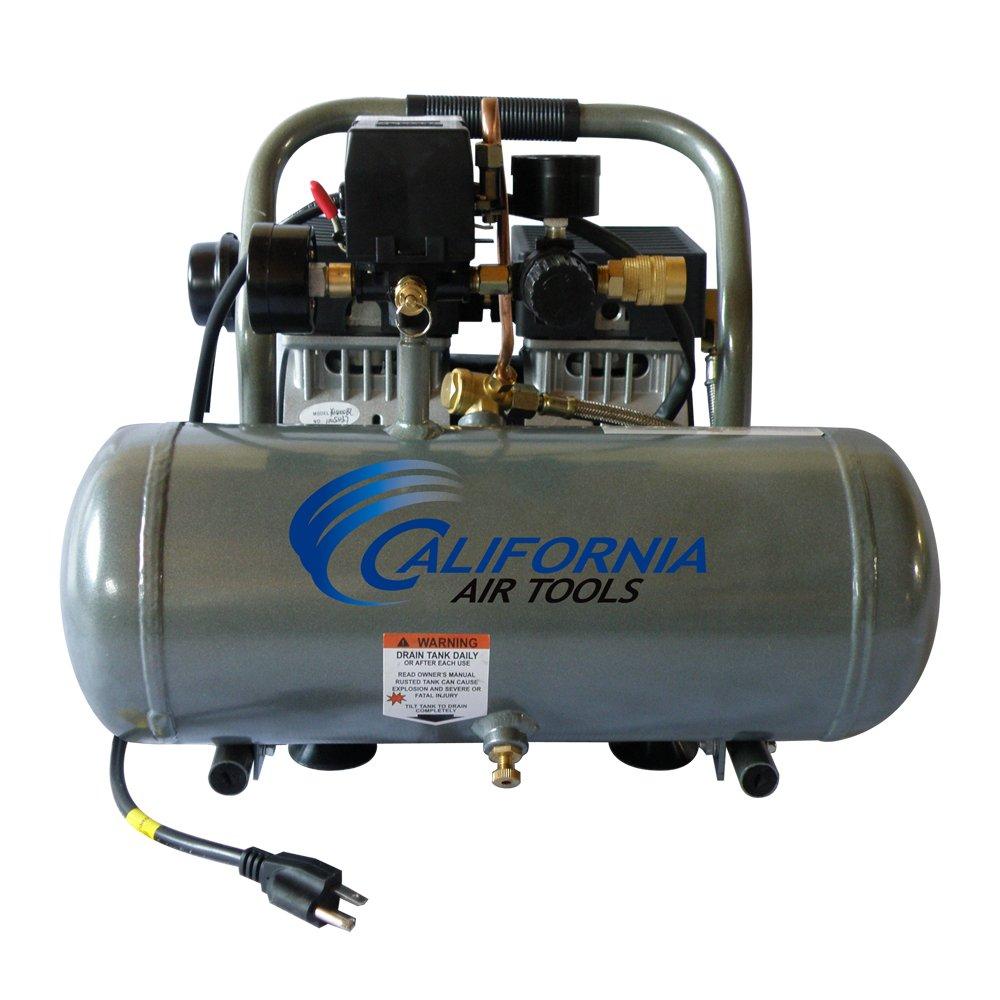California Air Tools CAT-1675A Ultra Quiet and Oil-Free 3/4 Hp 1.6-Gallon Aluminum Tank Air Compressor