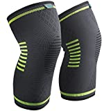 Sable Knee Brace Compression Sleeves 2 Pack FDA Approved, Support for Arthritis, ACL, Running, Biking, Basketball Sports, Joint Pain Relief, Meniscus Tear, Faster Injury Recovery, Medium (15.5-19'')