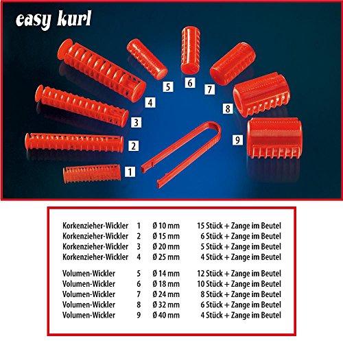 Easykurl Lockenwickler Papilotten 24 mm, rot, Volumen-Lockenwickler mit Papilätt-Zange