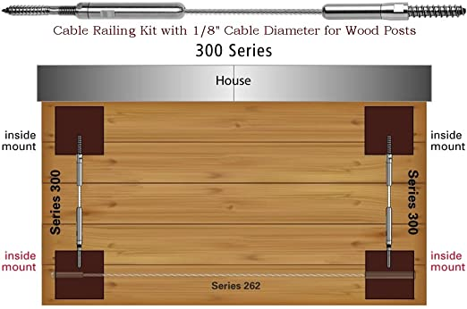 cable railing kit menards amazon series ultra kits for wood posts home improvement decks