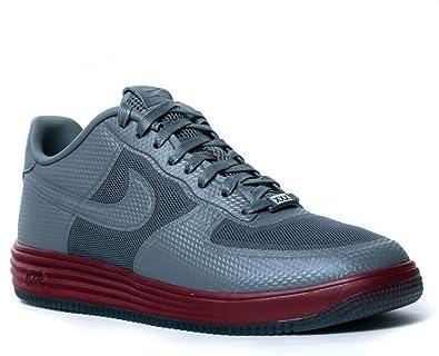 separation shoes 2b5da 83a4e Nike Lunar Force 1 Fuse NRG (11) Grey Red  Amazon.co.uk  Shoes   Bags