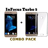 M.G.R Tempered Glass + Transparent Back Cover [Combo Pack] for InFocus Turbo 5