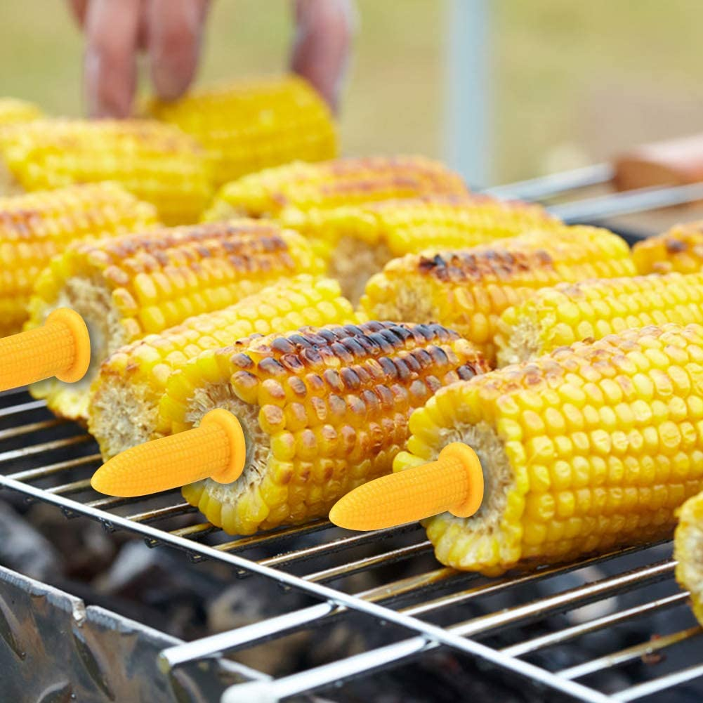 10Packs Stainless Steel Corn Holders Corn On The Cob Skewers For Bbq Twin Prong Sweet Corn Holder Home Cooking Fork