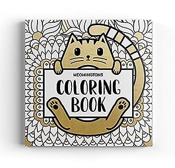 meowingtons gato para colorear libro para adultos: Amazon.es: Juguetes y juegos
