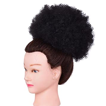 Amazon beautygal fluffy afro curly chignons wig kinky beautygal fluffy afro curly chignons wig kinky drawstring ponytail synthetic wigs hair bun extension soft black pmusecretfo Images