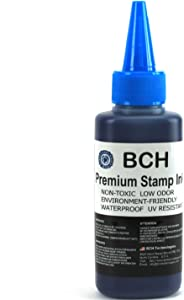 Blue Stamp Ink Refill by BCH - Premium Grade - 2.5 oz