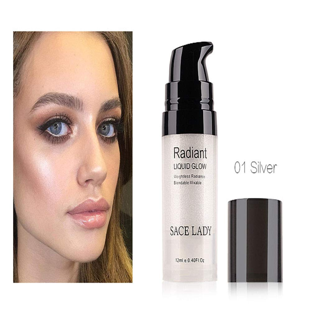 Amazon.com: Hot Illuminator Makeup Highlighter Cream Face Brighten Professional Shimmer Make Up Liquid Glow Kit Beauty Brand Cosmetic SACE LADY 12ml ...