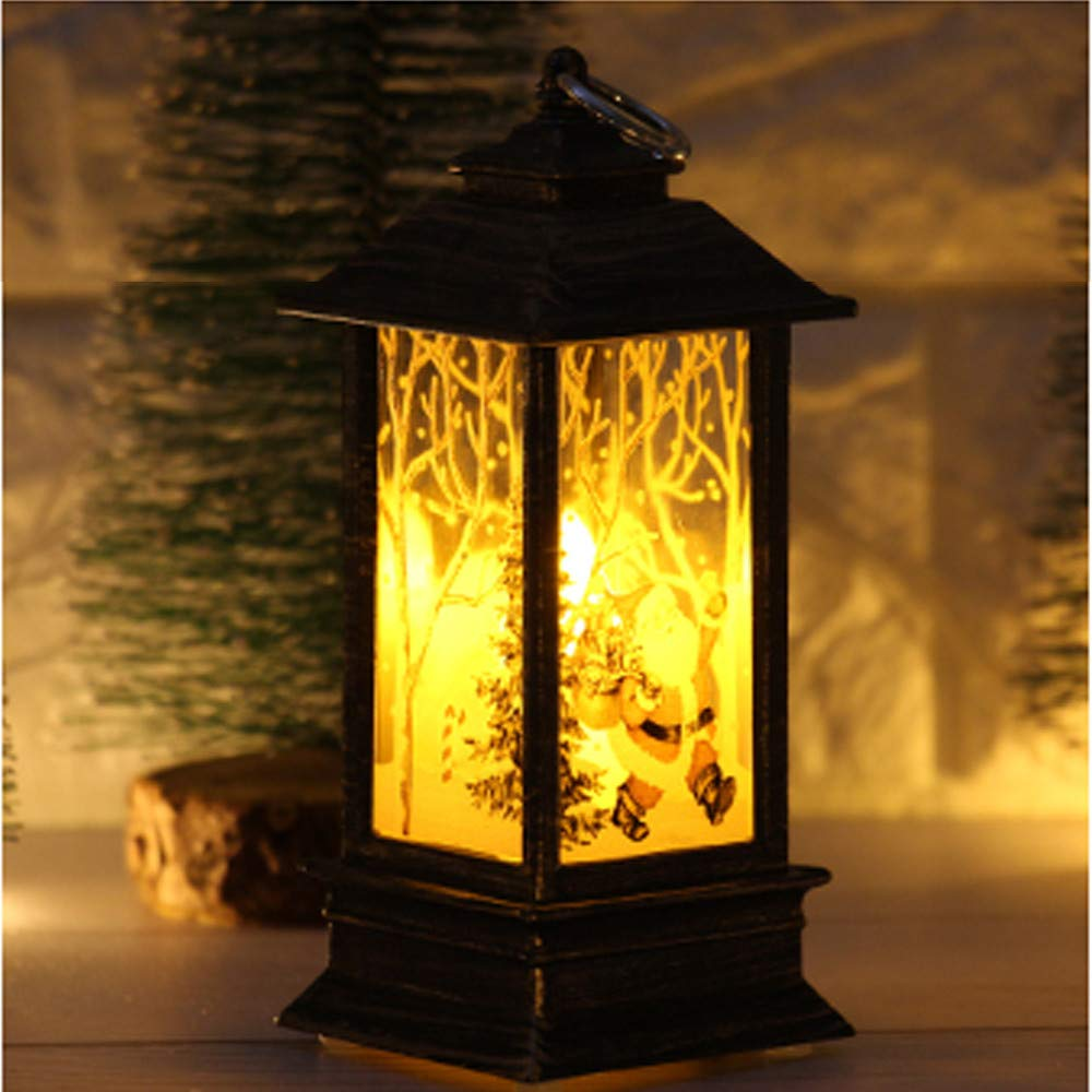Longay 1 pcs Christmas Candle with LED Tea Light Candles for Christmas Decoration Part (D)