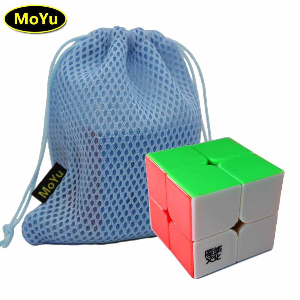 MoYu LingPo 2x2x2 Zaubergeschwindigkeit Puzzle Cube Spielzeug Stickerless + (ein MoYu Cube Bag) FunnyGoo