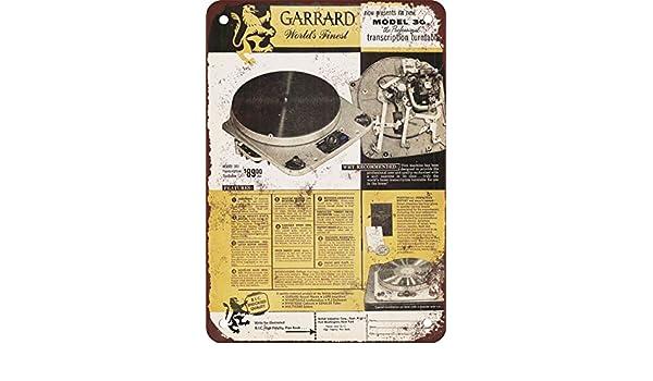 1955 Garrard 301 Tocadiscos Vintage Look reproducción Metal ...