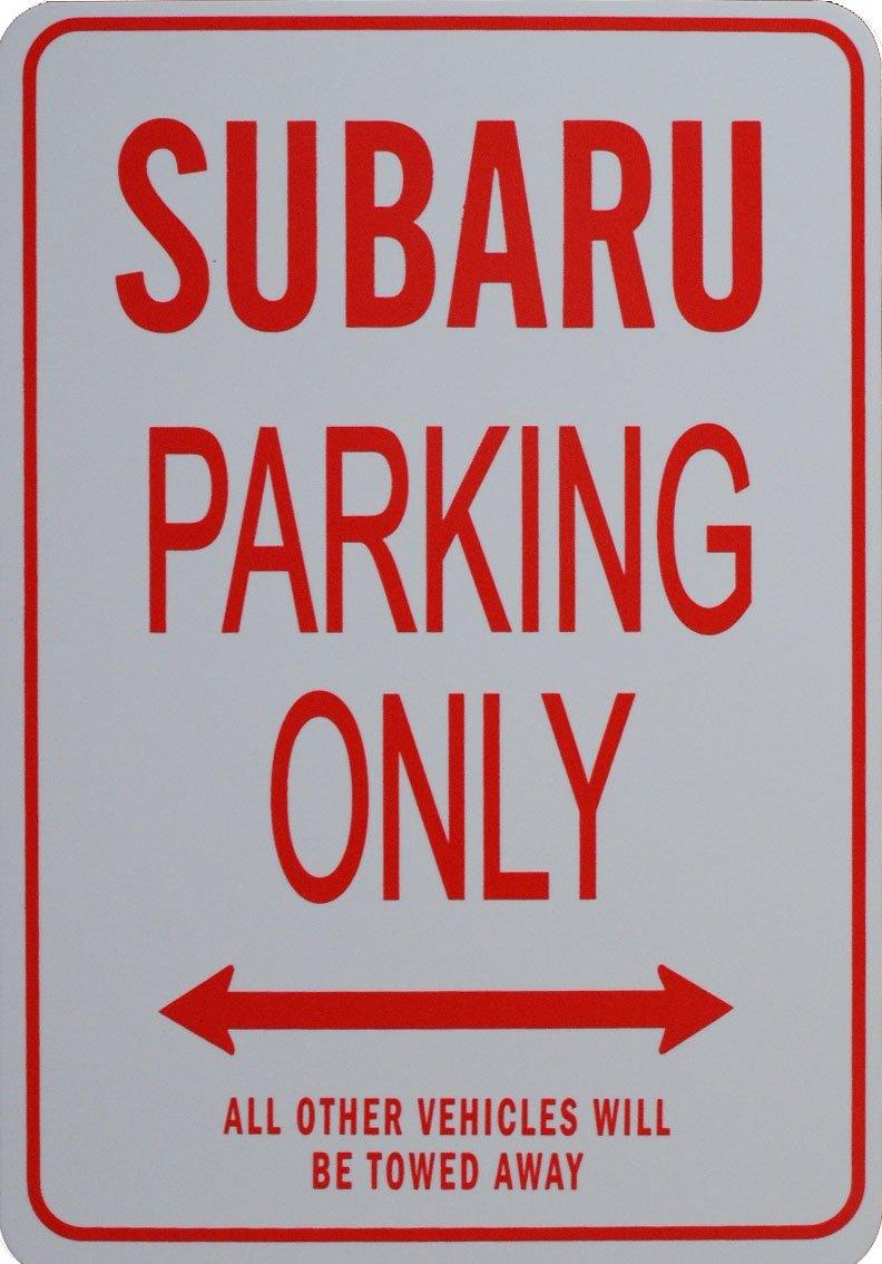 SUBARU Parkplatz nur Zeichen funparkingsigns ES-SUBARU