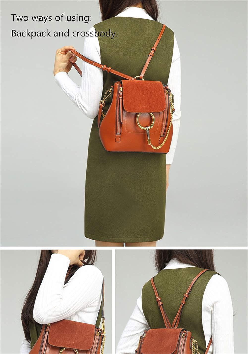 2035d0fec1f3da FairyBridal Women Real Leather Satchel Cross Body Handbags, Backpack 3  Colors (black2): Handbags: Amazon.com