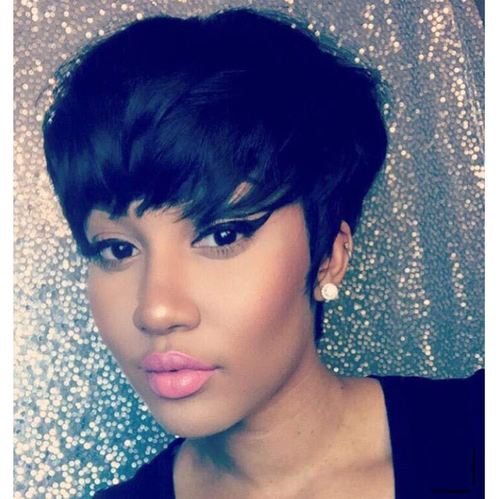 AIWEISE Short Pixie Wigs Human Hair for Black Women Short Human Hair Wigs  Pixie Cut Wigs