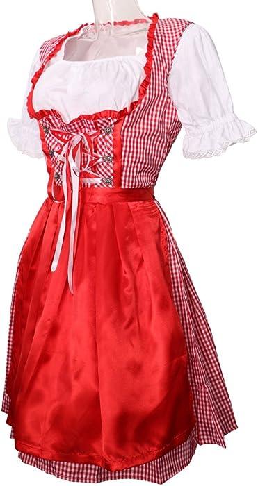 F Fityle Oktoberfest Heidi Dress Bávara Beer Girl Disfraces De ...