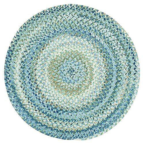 8ft Round Area Rugs Blue Amazon Com