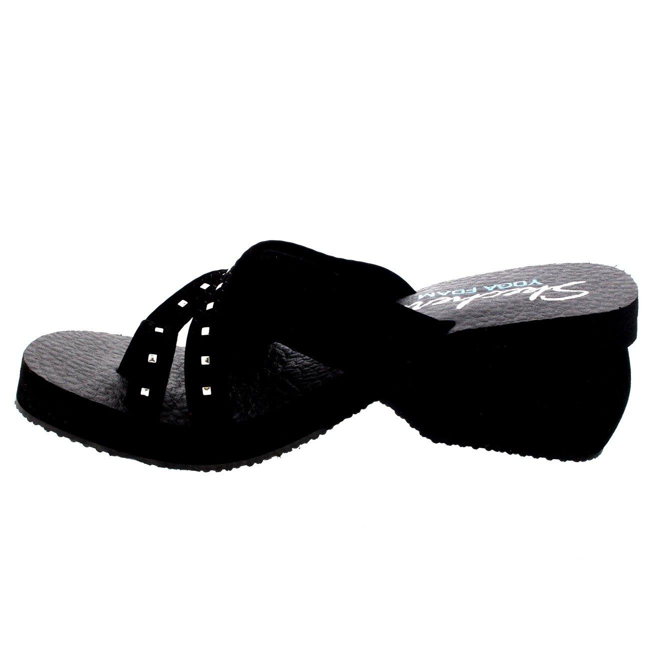 Skechers - Parte Trasera Abierta Mujer, Color Negro, Talla ...