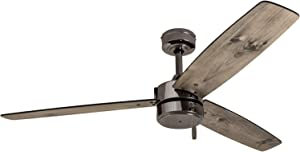 Prominence Home 51024 Indoor/Outdoor Journal Ceiling Fan, 52