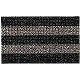 """GrassWorx Clean Machine Patio Stripe Doormat, 18"""" x 30"""", Root Beer (10371829)"""