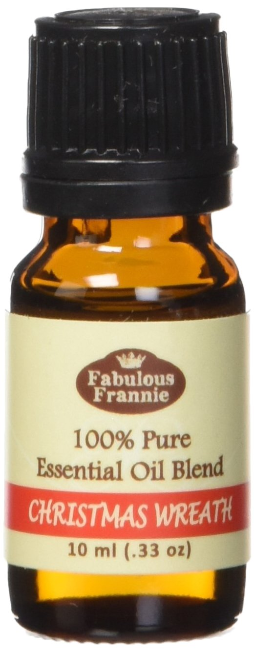 Christmas Wreath Essential Oil Blend 100% Pure, Undiluted Essential Oil Blend Therapeutic Grade - 10 ml - Blend of Cyrpress, Pine, Cedarwood, Orange, Cinnamon, Clove and Vanilla