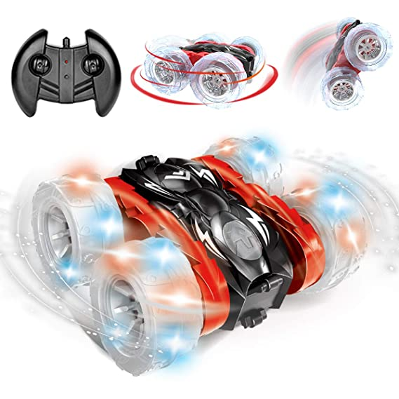 Remokids Rc Car Stunt Remote Control Car Toys for Boys Girls Kids Adults 2.4GHz Off-road Electric Rc Car with LED Lights Whee