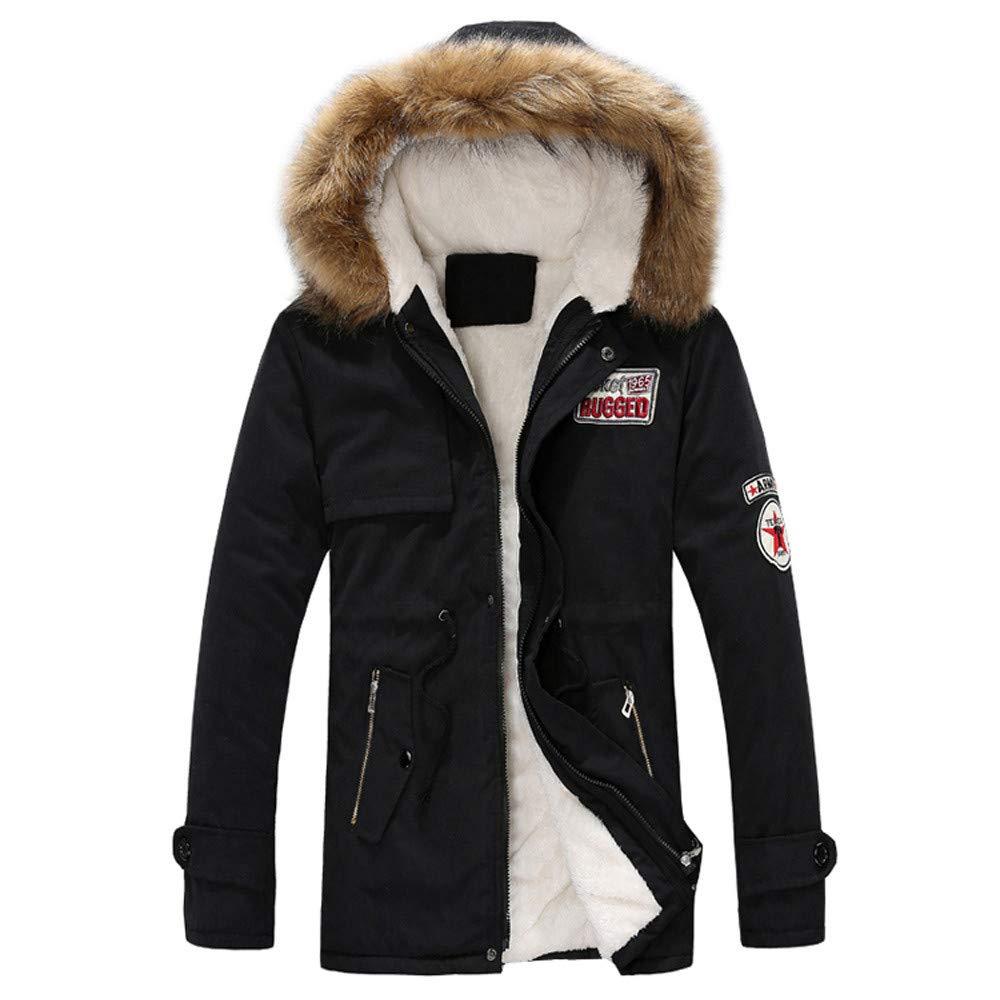 0a94aeef1e7ff ... Orangeskycn Jackets for Women Men Women Casual Hooded Fur Collar Couple  Coat Orangeskycn womens Girls ...
