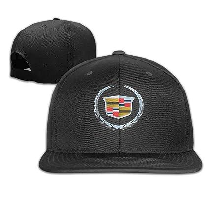 488ef0a711556 Amazon.com   GlyndaHoa Cadillac Logo Unisex Fashion Cool Adjustable  Snapback Baseball Cap Hat One Size Black   Sports   Outdoors