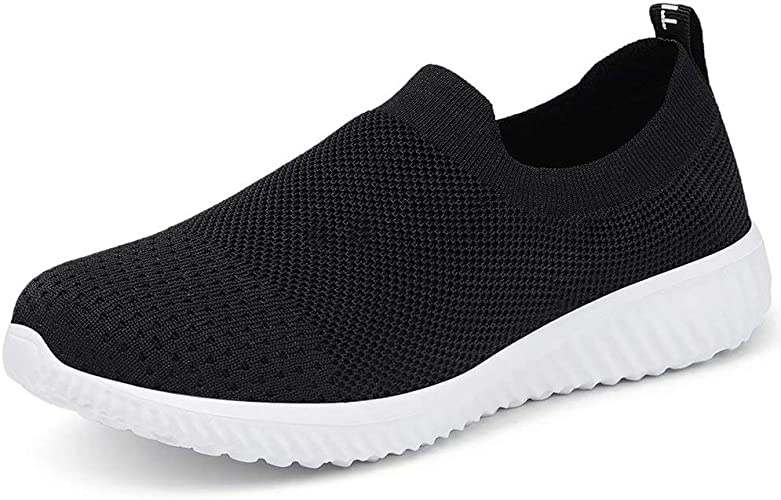 LANCROP Women's Sock Walking Shoes Comfortable Mesh Slip on Easy Sneakers
