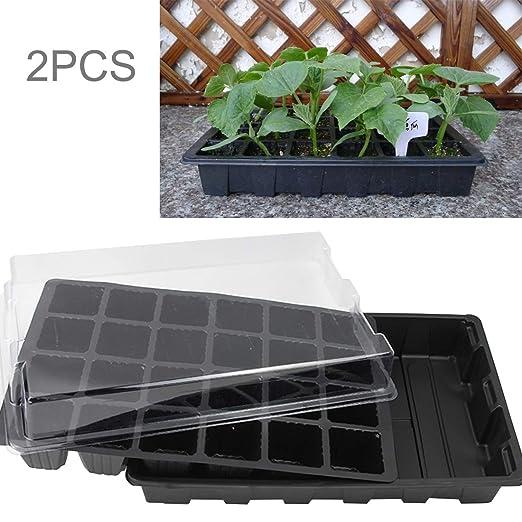 YKDY - 2 bandejas para Plantas, 24 Orificios, Bandeja para ...