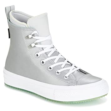 6fc1a4235695d Converse Chuck Taylor WP Boot Baskets Mode Femmes Argenté Blanc ...