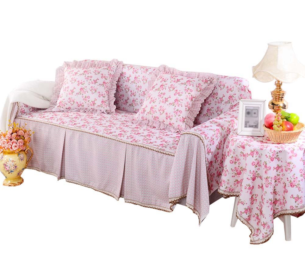All Seasons Universal Furniture Loveseat Slipcover PINK, 215x260cm/84.6x102inch PANDA SUPERSTORE PS-HOM1063300-ALAN02550