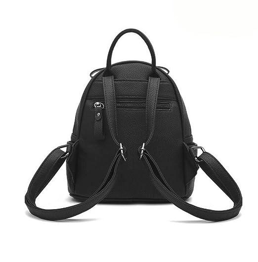 Nieten Damen Schultertasche College Stil Persönlichkeit Rucksack Mode Handtaschen,Pink-OneSize GKKXUE