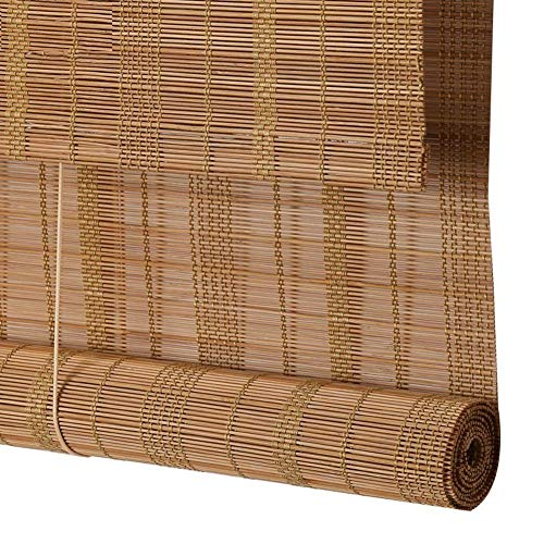 ZYLE-Curtain Roll Up Blind Bamboo Waterproof Shade Curtain Outdoor Window Blinds, Light Filtering for Garden,Patio,Gallery,Balcony (Size : 75x225cm) ()
