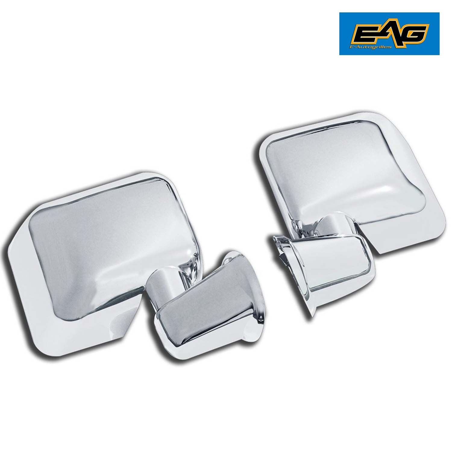 65-0207 for 07-16 Jeep Wrangler JK E-Autogrilles Triple Chrome Plated ABS Full Mirror Cover Arm Cover included