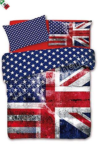 Copripiumino Singolo Bandiera Inglese.R P Daunex Parure Copripiumino Sacco Letto Singolo 1 Piazza