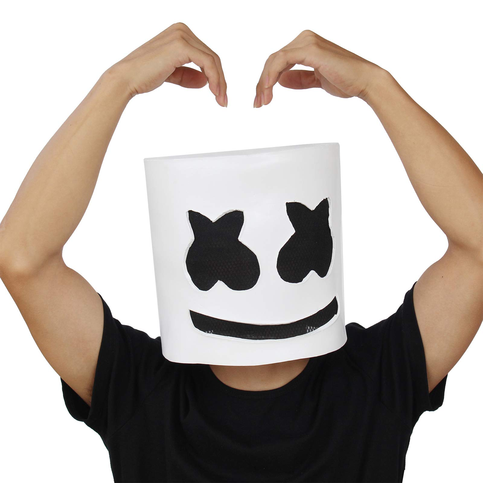 PartyHop DJ Mask Music Festival Helmet Halloween Party Cosplay Props Latex Full Head Mask