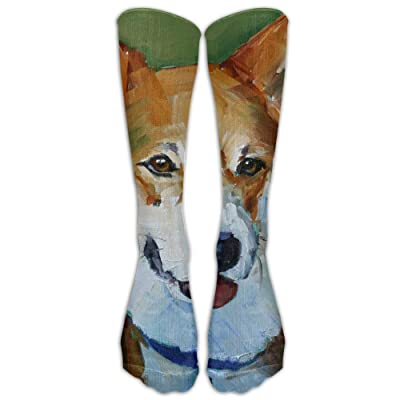 High Boots Crew Dog Printings Compression Socks Comfortable Long Dress For Men Women