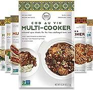 Gourmet Spice Blends for Home Cooking (Sampler Pack of 6) Seasoning Pack For Instant Pot, Crock pot, Slow Cook