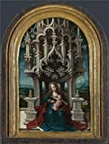 Oil Painting 'Netherlandish The Virgin And Child Enthroned', 18 x 24 inch / 46 x 61 cm , on High Definition HD canvas prints is for Gifts And Bed Room, Nursery And Powder Room Decoration